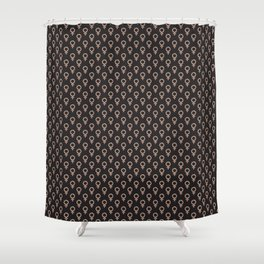 Fearless Female Black Shower Curtain