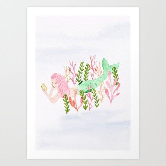 Mermaiding Art Print
