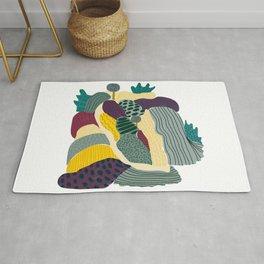Landscape collage patterned print  Rug