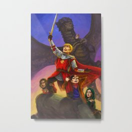 Sh*t Merlin has to deal with Metal Print