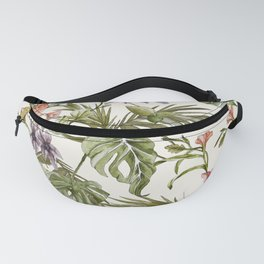 Watercolor tropical foliage Fanny Pack
