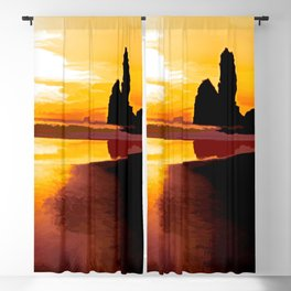 New Zealand  West Coast  Motukiekie Beach Blackout Curtain