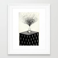 anxiety Framed Art Prints featuring Anxiety by Felicia Chiao