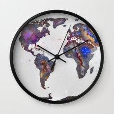 Stars world map Wall Clock