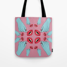 Vampire Lipstick - Pink Tote Bag