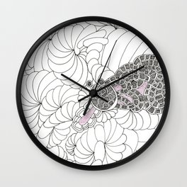 FRACTAL FROG ON THE UNIVERSES LILLY PADS! Wall Clock
