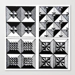 Engraved Patterns Canvas Print