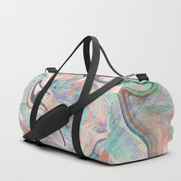 Pastel Rose Gold Mermaid Marble Duffle Bag