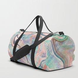 Pastel Rose Gold Mermaid Marble Duffle Bag
