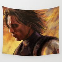 winter soldier Wall Tapestries featuring The Soldier by rnlaing