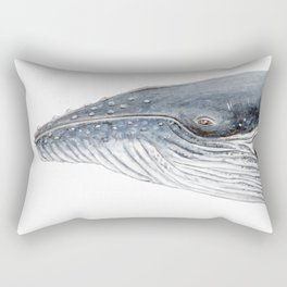 Humpback whale portrait Rectangular Pillow