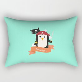 Pirate Pinguin from BUDAPEST T-Shirt for all Ages Rectangular Pillow