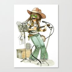 Banjolélé Girl Canvas Print