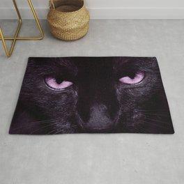Black Cat in Amethyst - My Familiar Rug