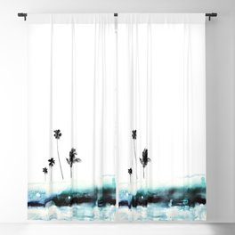 Palm 04 (Blue) Blackout Curtain