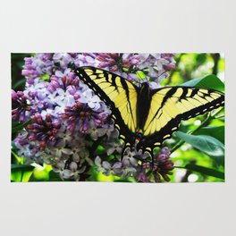 Timid Tiger Swallowtail Butterfly Rug