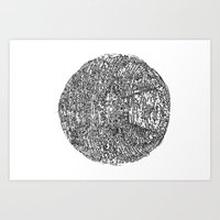 death star Art Prints featuring Death Star by Lior Blum