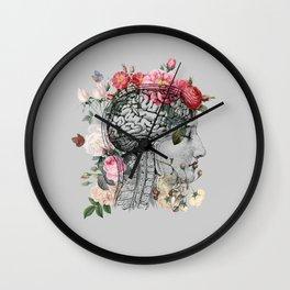 Beautiful Brain ~ Gray Wall Clock