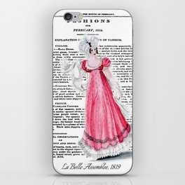 Regency Fashion Plate 1819, La Belle Assemblee iPhone Skin