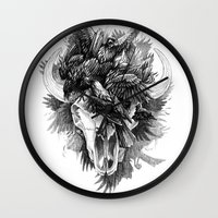 cycle Wall Clocks featuring Cycle by April Schumacher