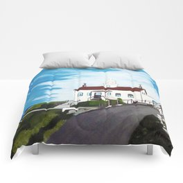Battery point Lighthouse ( Crescent City, CA ) Comforters