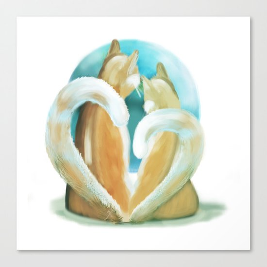 Fluffy love Canvas Print