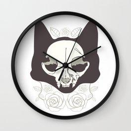 La Catrina Mexico Cat Skull Dead Cult Death Gift Wall Clock