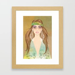 Hippie girl Framed Art Print