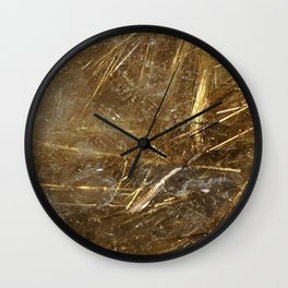 Golden Rutile Wall Clock