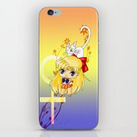 sailor venus iPhone & iPod Skins featuring Sailor Venus by artwaste