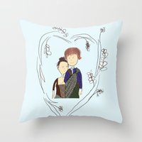 outlander Throw Pillows featuring Outlander by Sarcastic Savage