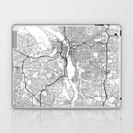 Minimal City Maps - Map Of Portland, Oregon, United States Laptop & iPad Skin