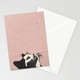 Cat on Pink - Lo Lah Studio Stationery Cards