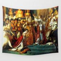 napoleon Wall Tapestries featuring Le Sacre De Napoleon  by Chris' Landscape Images & Designs
