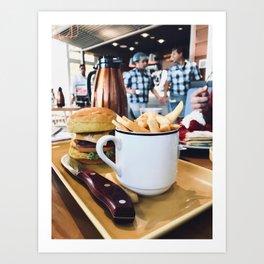 Cup of Fries Art Print