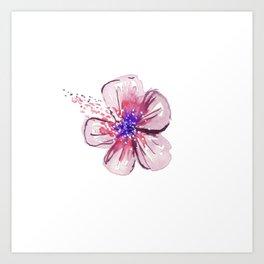 Little Lilac Flower Art Print