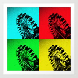Pop Art Ferris Wheel Art Print