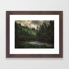 Pacific Northwest River - Nature Photography Framed Art Print