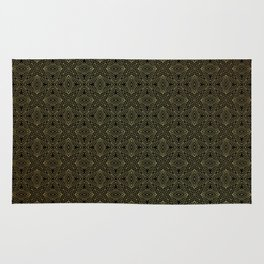 Easy golden geometric pattern Rug