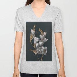 Night Flowers Unisex V-Neck