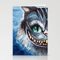 cheshire cat Stationery Cards featuring Cheshire Cat by hannahclairehughes
