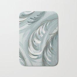 swirling feathers Bath Mat