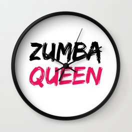 Zumba Queen Wall Clock