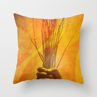 prometheus Throw Pillows featuring Prometheus by nosnop