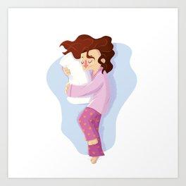 Sweet dreams - woman Art Print