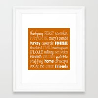 thanksgiving Framed Art Prints featuring Thanksgiving Celebration by Tiffany Dawn Smith