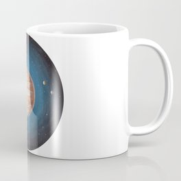 Solar System: Jupiter the Gas Giant & some of the Moons Coffee Mug