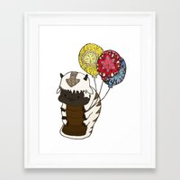 appa Framed Art Prints featuring Appa tied to Balloons by nsvtwork