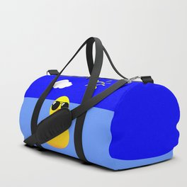 Cool Rubber Duck Yellow Duffle Bag