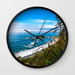 Pacific View - Coastal Scenery in Washington State Wall Clock